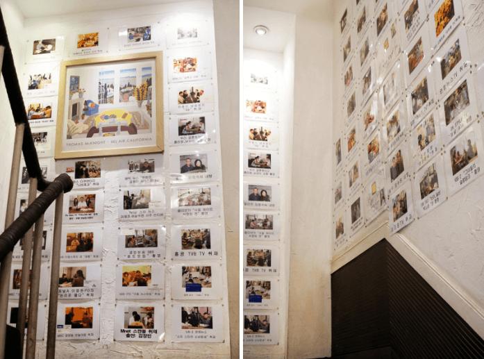 占いカフェ「チェミナンチョガッカ」のマスコミ取材写真、韓流スターのサインや写真